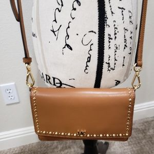 Michael Kors studded leather phone crossbody